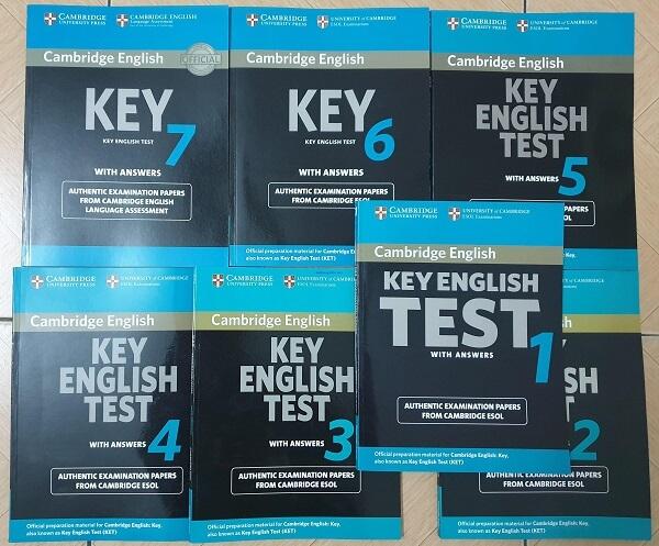 Bộ sách Cambridge Key English Test là sự lựa chọn hàng đầu cho việc ôn tập KET.