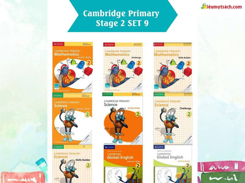 Trọn bộ 9 cuốn dụng sách Cambridge Primary Stage 2