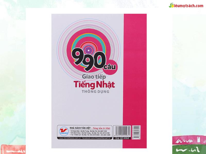 Siêu Mọt Sách giới thiệu 990 câu giao tiếp tiếng Nhật thông dụng